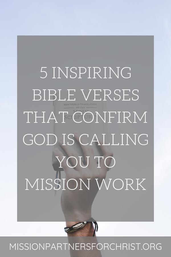 Verses mission scripture Bible Verses